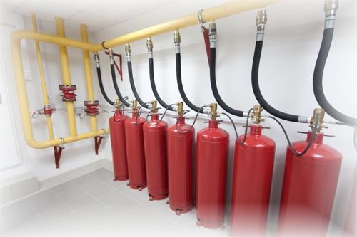 газового пожаротушения: